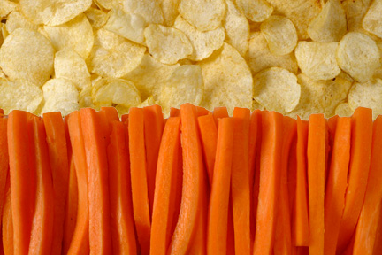 carrots-potato-chips