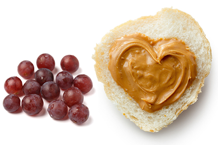 peanut butter and grapes-wp
